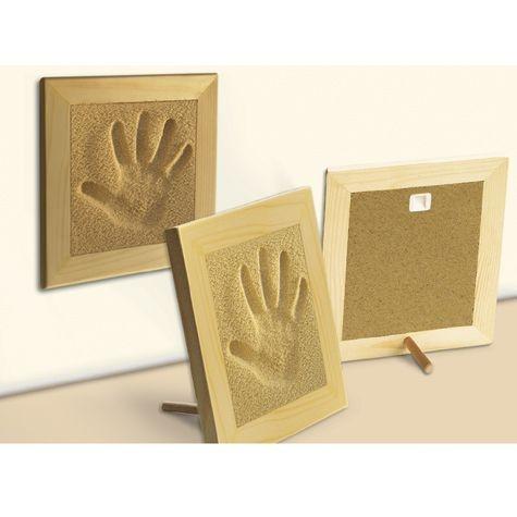 SandMemories Hand mit Rahmen