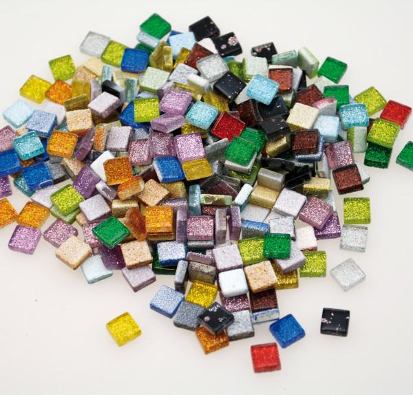 """Mosaiksteine """"Glitzer"""" 10 x10 mm"""