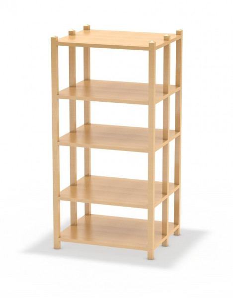 Bücherregal, 80 cm breit, doppelseitig