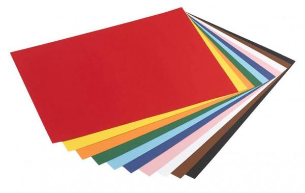 Tonpapier 130 g, DIN A3 - 50 Blatt in 10 Farben