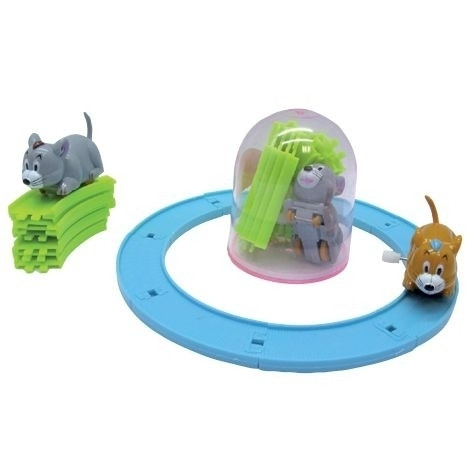 Aufziehbares Mini-Karussell Maus 12 Stück