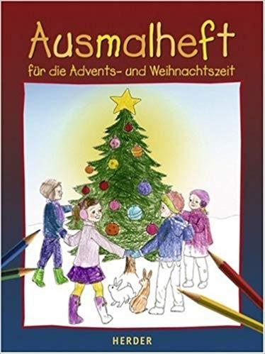 Ausmalheft für die Advents- und Weihnachtszeit