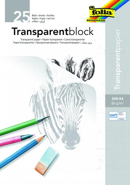 Transparentpapier-Block A4