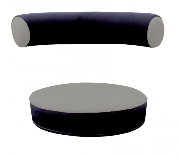 Sanus® Ersatzbezug Stoff grau/schwarz