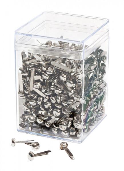 Rundkopfklammern Silber