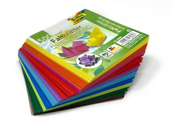 Faltblätter superintensiv gefärbt