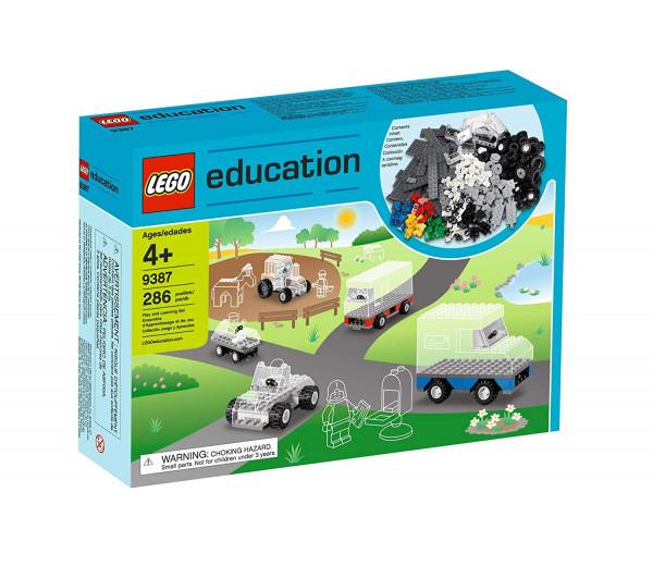Lego Bauplatten und Räder