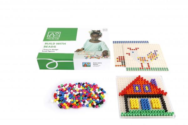 """Lernspiel """"Build with beads"""" - mit Perlen bauen"""