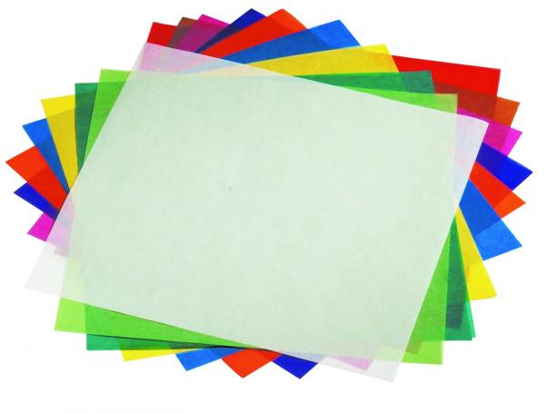 Faltblätter aus Transparentpapier