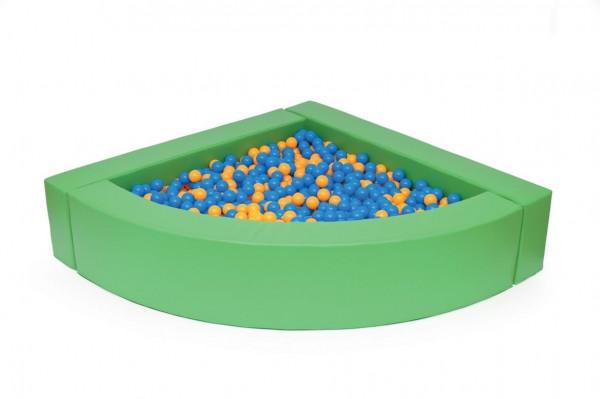 Viertelkreisballbad 4-teilig, grün, H 30 cm