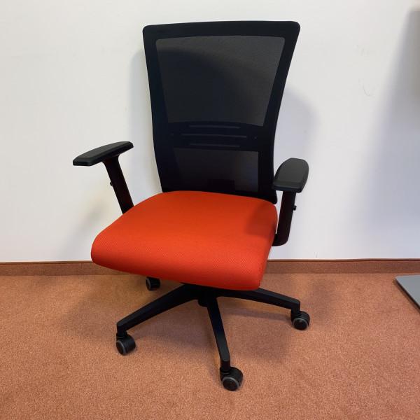 2. Wahl Bürostuhl Stoff rot, mit Armlehnen