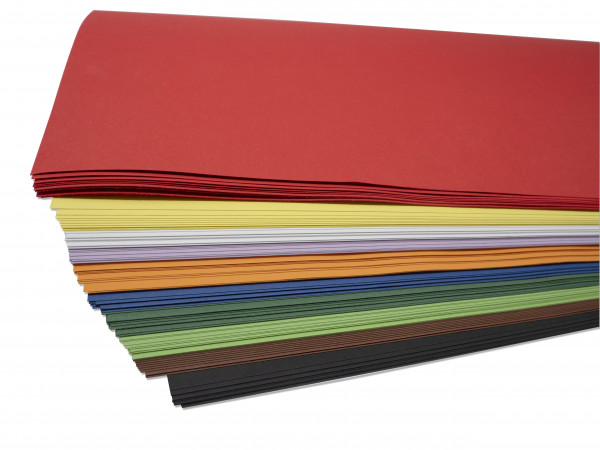 Tonkarton 220g, 50 x70 cm - 100 Bogen in 10 Farben