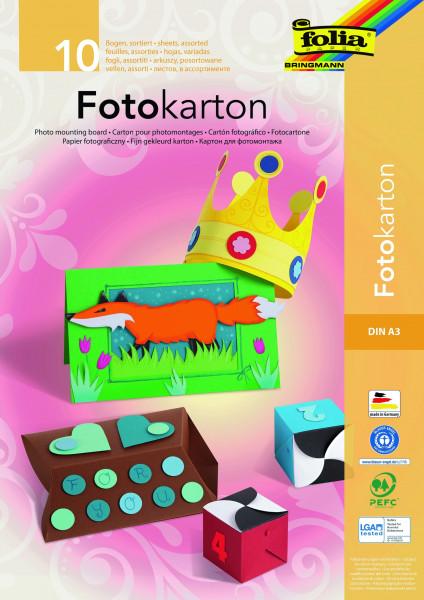 Fotokarton-Block DIN A3, 10 Blatt