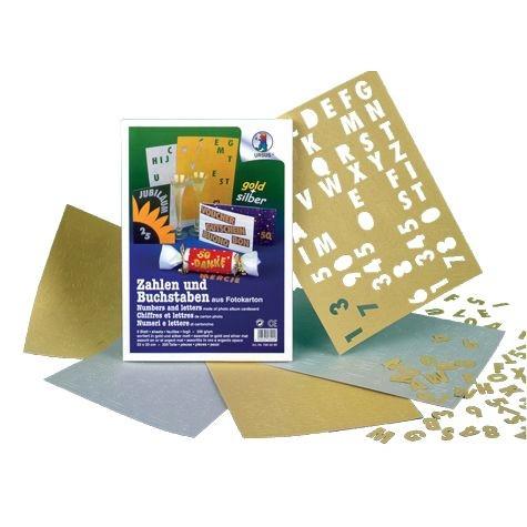 Zahlen und Buchstaben silber + gold