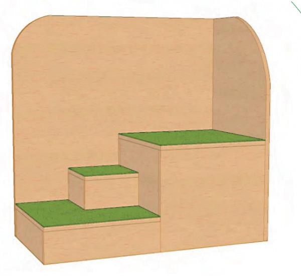 Anziehtreppe Panell hinten; rechts oder links