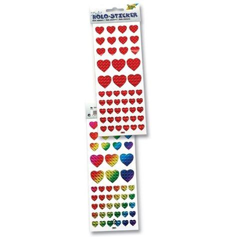 Holo-Sticker Herzen
