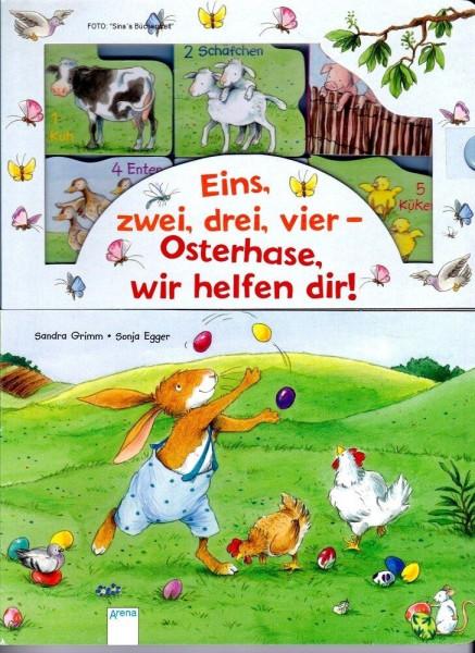 Eins, zwei, drei, vier- Osterhase, wir helfen dir!
