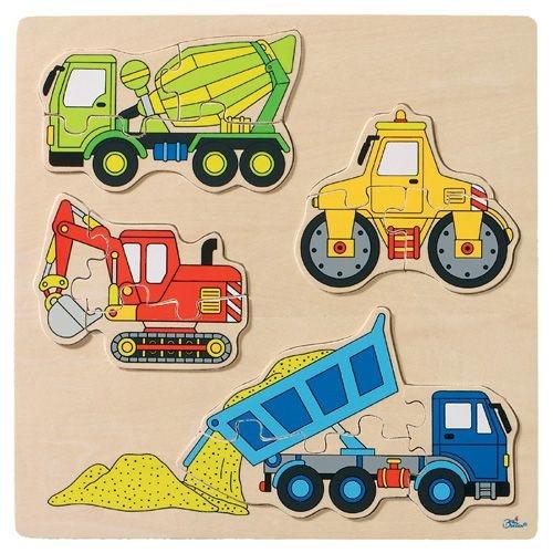 """Einlegepuzzle """"Baufahrzeuge"""", 12-teilig"""