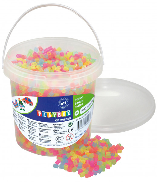 Bügelperlen Neon-Mix