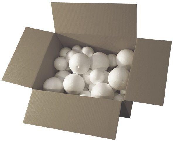 Styroporkugeln weiß 100 Stück sortiert
