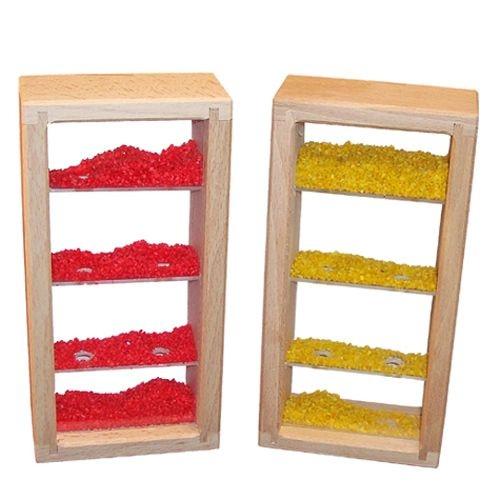 Bausteine Sandturm rot und gelb