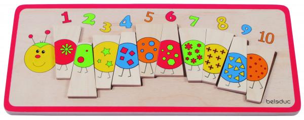 Legepuzzle Zahlenraupe