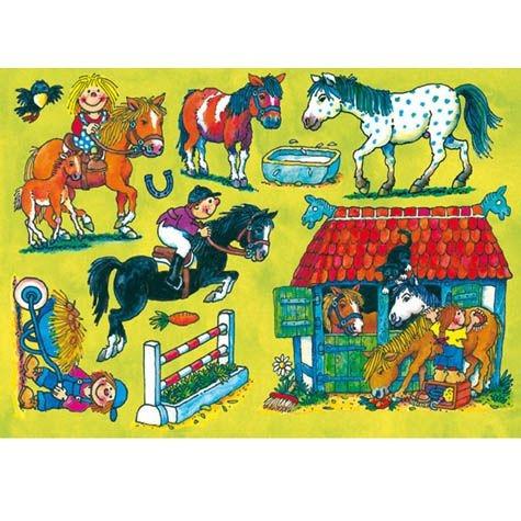 """Fensterbild """"Ponyhof"""", DIN A4"""