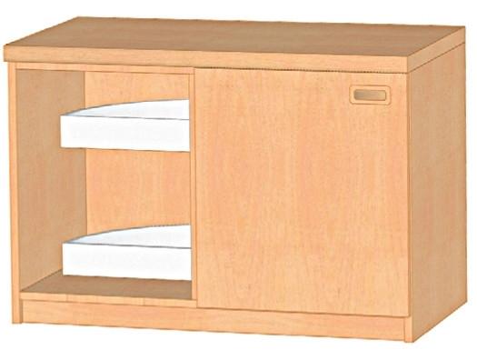 Küchen-Eckunterschrank für Ecke links