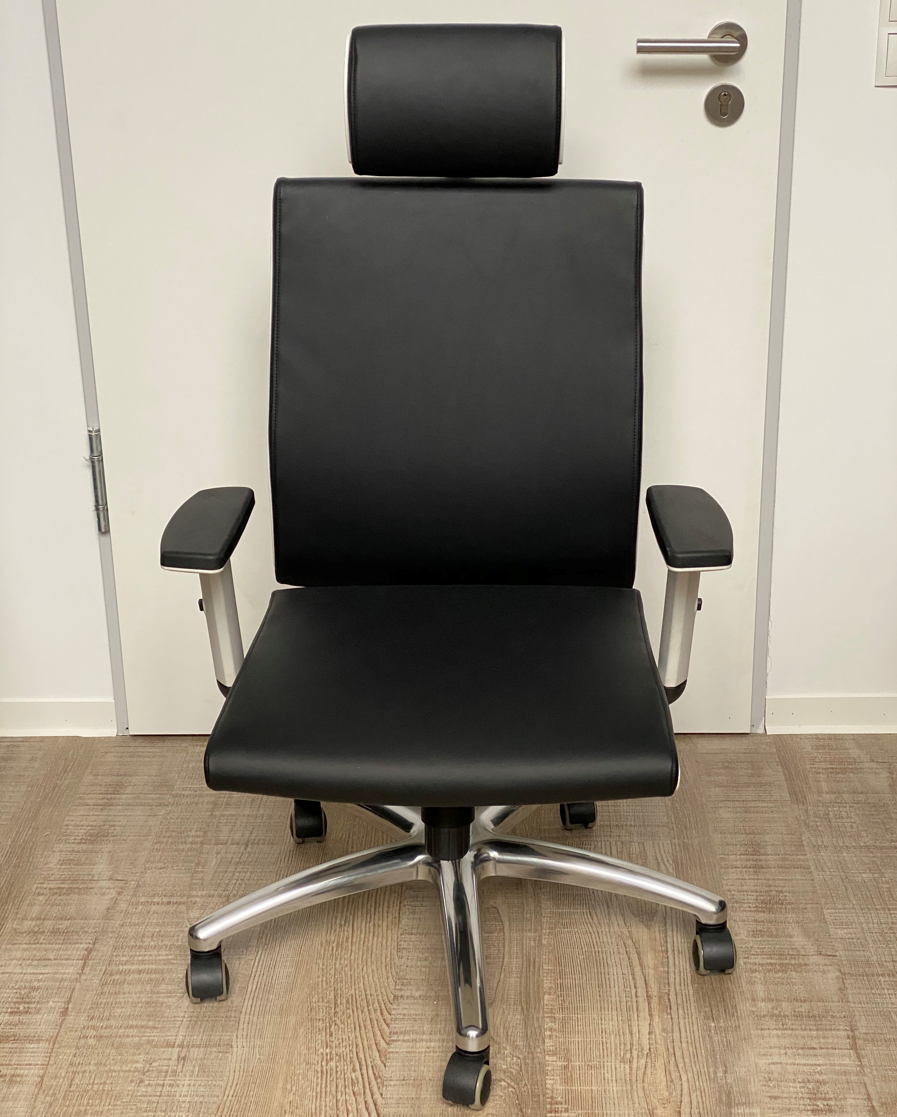 2. Wahl Bürostuhl Kunstleder schwarzweiß