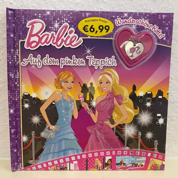 Barbie auf dem pinken Teppich - Buch mit Kette