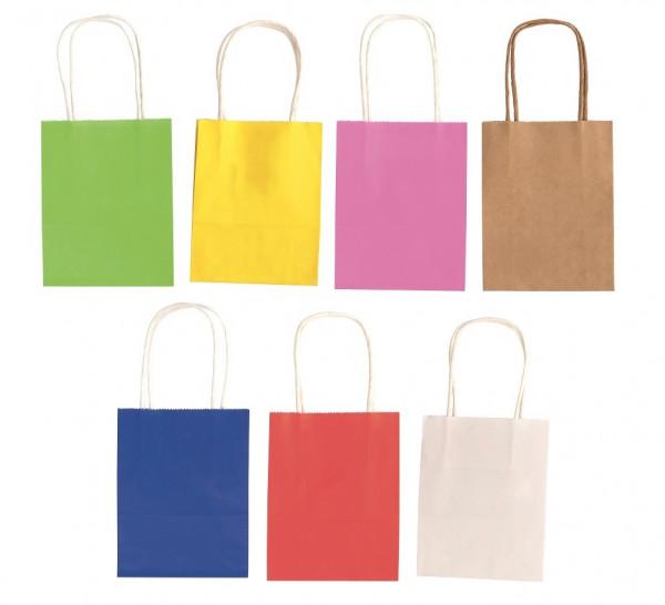Papiertüten mit gedrehtem Papiertragegriff