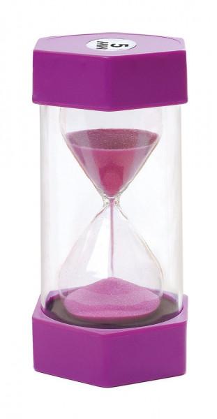 Sanduhr Maxi 5 Minuten violett