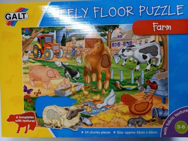 """Bodenpuzzle """"Bauernhof"""" mit Textiloberfläche"""