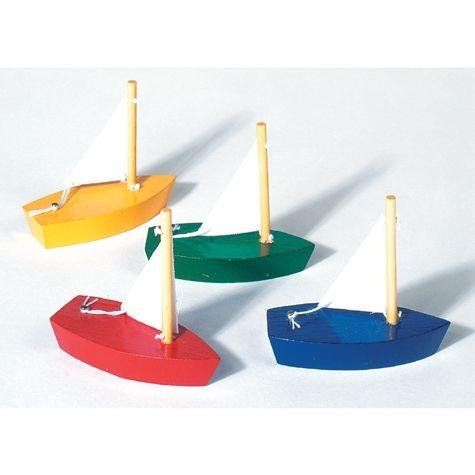 Segelboot, Mini, aus Holz 7 cm, S.309