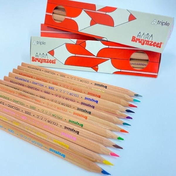 Buntstifte - Dreieckig 12 Farben