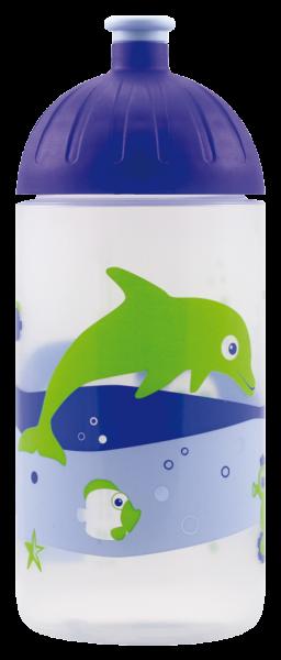 ISYbe®-Flasche Trinkflasche 0,5l, Fische retro