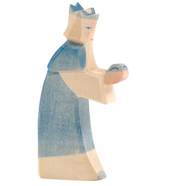 Ostheimer Krippenfigur König blau