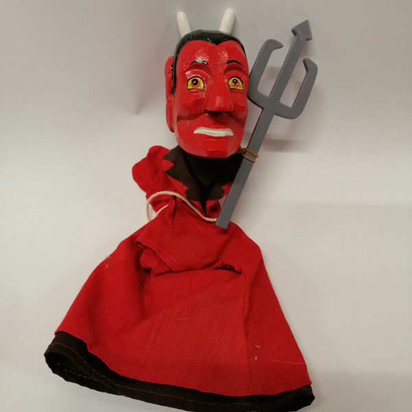 Kasperlepuppe Teufel