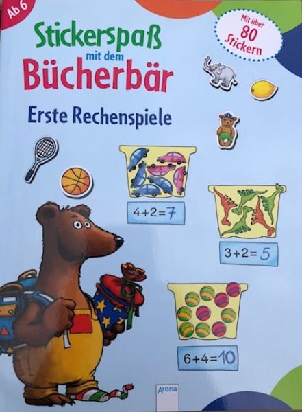 Stickerspaß mit dem Bücherbär - Rechenspiele