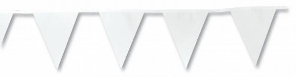 Wimpelkette Girlande weiß, 2 Stück