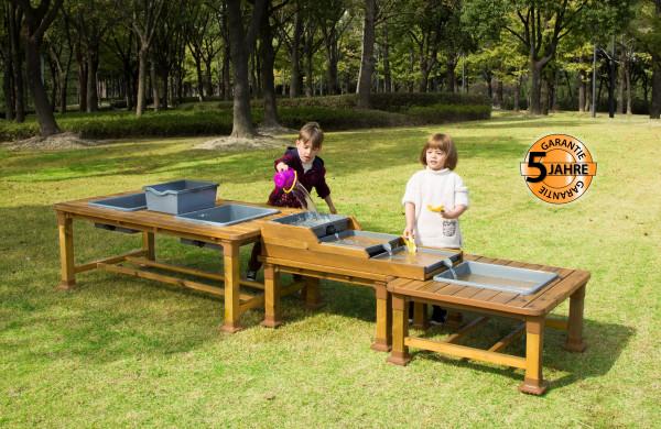 Outdoor Sand- und Wassertische, 3er Set