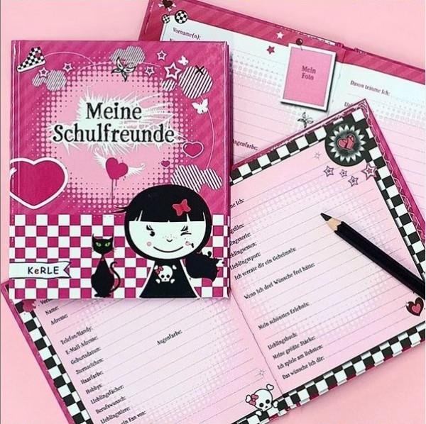 Meine Schulfreunde - Freundebuch für Mädchen