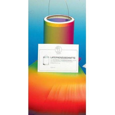 Laternenzuschnitt aus Regenbogentransparentpapier