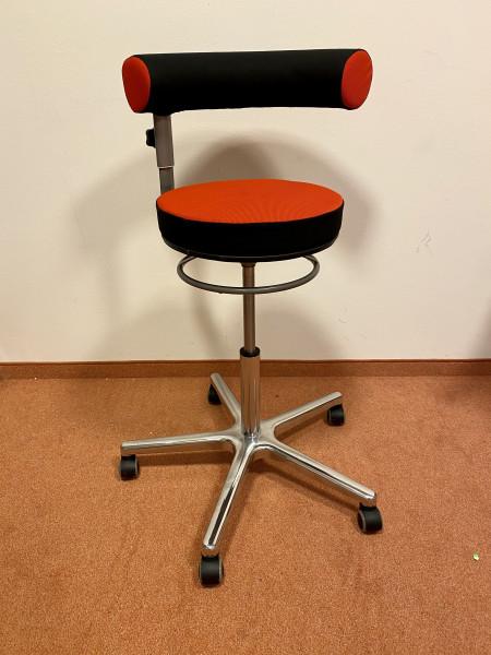 Sanus 2. Wahl Stoff rot/schwarz, Sitzhöhe ca. 54-74 cm