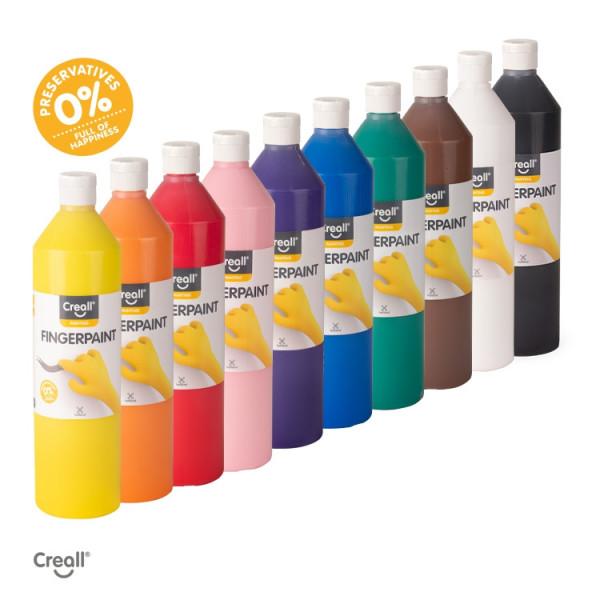 Creall 9er Set Fingerfarbe 9000 g.