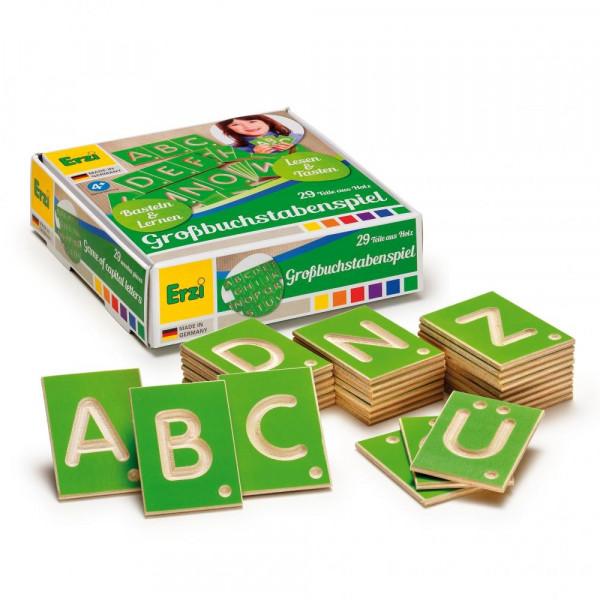 Großbuchstabenspiel, Basteln & Lernen, Lesen