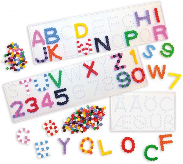 Steckplatten Buchstaben & Zahlen, 5er-Pack
