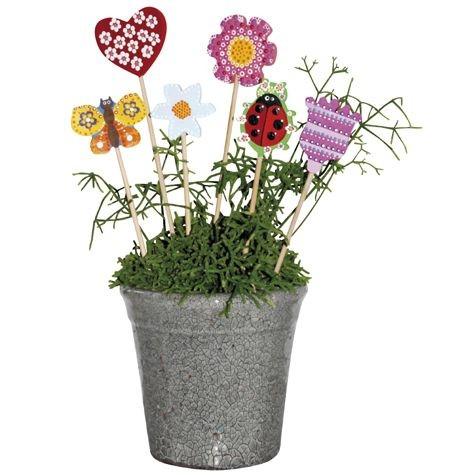 Blumenstecker aus Holz