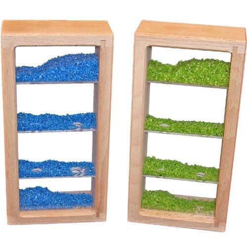 Bausteine Sandturm blau und grün