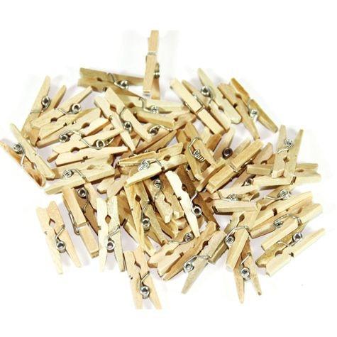 Mini- Holzklammern